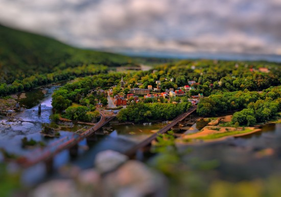 Harpers Ferry Tilt Shift 1 v2 550x386 47 Examples Of Tilt   Shift Photography