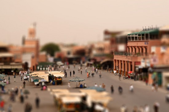 Marrakech Tilt Shift 550x366 47 Examples Of Tilt   Shift Photography