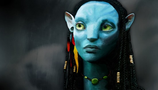 Neytiri Digital Painting 550x314 15 Really Cool Digital Painting Examples