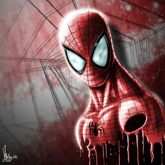 SPIDERMAN Digital painting 550x550 15 Really Cool Digital Painting Examples