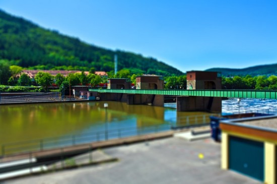 Schleuse Heidelberg tilt shift 550x366 47 Examples Of Tilt   Shift Photography