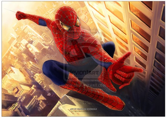 Spiderman digital Painting 550x389 15 Really Cool Digital Painting Examples