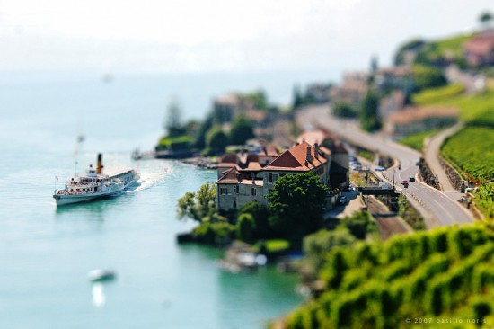 Tilt Shift I St Saphorin 550x366 47 Examples Of Tilt   Shift Photography