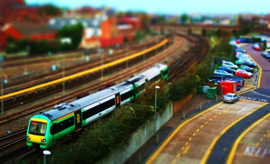 Tilt Shift Train 550x333 47 Examples Of Tilt   Shift Photography