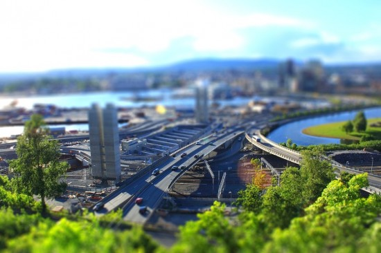 Tilt shift Oslo 2 550x366 47 Examples Of Tilt   Shift Photography