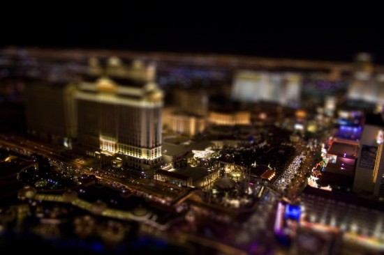 vegas tilt shift 550x366 47 Examples Of Tilt   Shift Photography