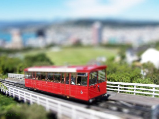wellington fake tilt shift 550x412 47 Examples Of Tilt   Shift Photography