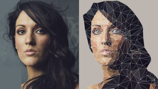 Create a low poly portrait